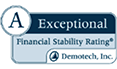 Exceptional Financial Stability Rating from Demotech, Inc.